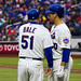 Chip Hale discusses the bunt with Josh Thole