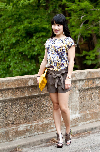 loft field spots print express belted shorts aldo dellarose american apparel carry-all pouch mk5430 express leather bracelet