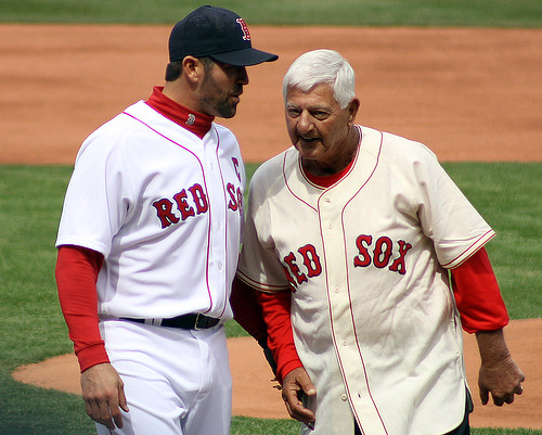 Whispering the secrets of the baseball gods together