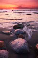 Ducks in a Row (moe chen) Tags: ocean seascape beach me sunrise landscape dawn sand nikon rocks maine sigma wells moe 1020mm chen
