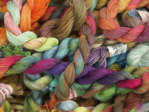 Hand-dyed embroidery threads