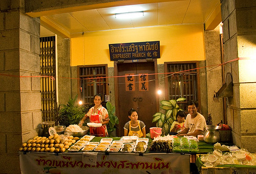 Family selling Mango and Sticky Rice