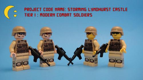 Custom minifig Modern Combat Soldiers