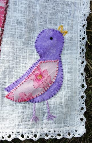 Spring banner bird