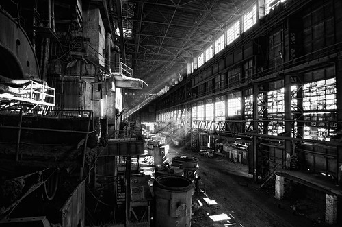 Another angle of iron factory production hall - Kremikovtzi AD
