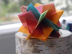 5 Intersecting Squares (Aneta_a) Tags: square origami planar modularorigami simplepaper