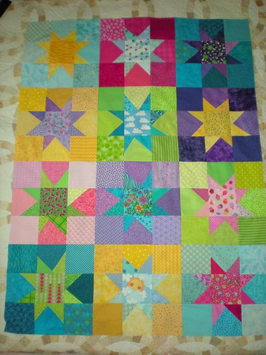 Quilt top for Japan