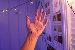 A New Beginning. (Stevenn Garcia) Tags: camera new blue light red canon polaroid photo blood hand veins