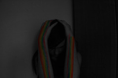 (sophie) Tags: blackandwhite colour girl contrast rainbow model selective selectivecolouring