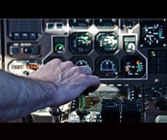 One, two, GO ! (Ulla Jensen Photography) Tags: travel speed airplane flying hand air instruments velocity takeoff throttle manpower vr2 atv49
