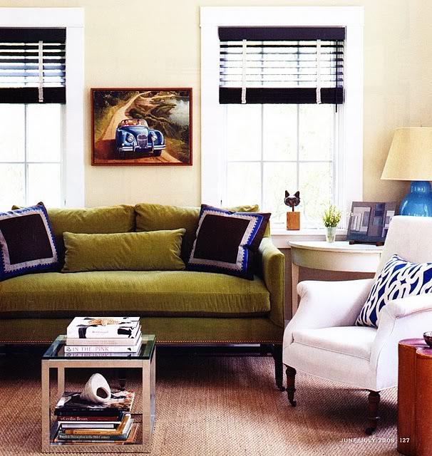 domino green sofa