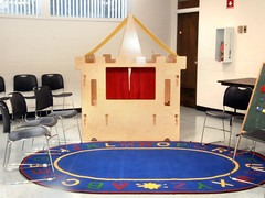 Fairytale Ball at the Northwood Library (Enoch Pratt Free Library) Tags: city decorations party urban castle public kids fairytale ball carpet colorful theater branch play library room stage free baltimore celebration event program theme rug inside northwood decorated playroom