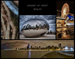 Chicago at Night (w4nd3rl0st (InspiredinDesMoines)) Tags: street longexposure travel blue wallpaper urban panorama chicago jason abstract black reflection art collage skyline night photoshop canon computer landscape fun puddle photography pier illinois spring artwork screensaver outdoor tripod navy inspired wallart tourist panoramic bean highlights lakeshoredrive collection spots hour 7d ferriswheel nik dslr cloudgate kapoor anish hdr starburst vanguard stockphotography chicagoist multipleimages 263 mileniumpark 1585 bestplaces inspiredphotography famouschicago altapro hdrefx mrachina wwwinspiredphotographydsmcom famouschicagosightseeing w4nd3rl0st wwwchicagoistcom