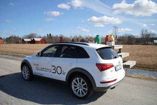 Audi Q5 stannar vid mjölkannorna
