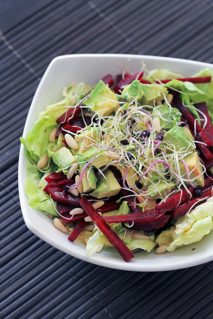 Beetroot, Avocado and Lettuce