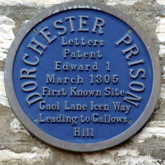 Photo of Dorchester Prison blue plaque