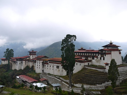 Trongsa Dzong from outside