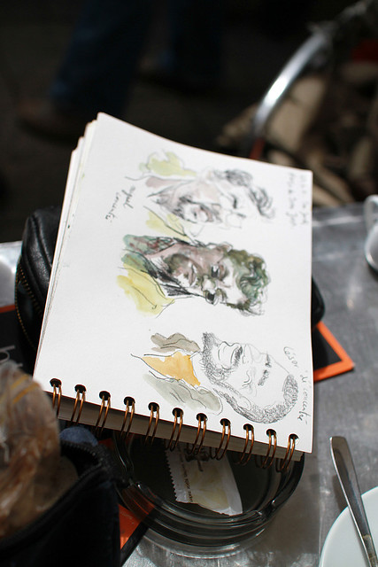 31st Barcelona's Sketchcrawl and Sant Jordi