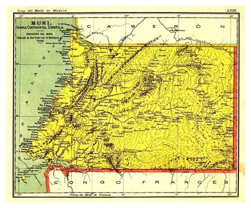 009-Muni-Guinea Continental Española-Atlas De Geografía- Astronómica, Física, Política Y Descriptiva 1908- Juan G. Artero