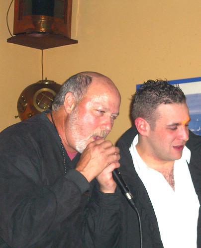 Jeff singing karaoke