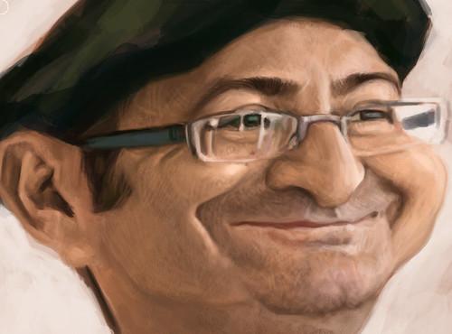 digital caricature of Tuncay Erol - 3