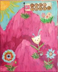 Girl Power II (Jill's Dream by Jill Lambert) Tags: pink flowers blue sun girl girlpower inspirational jillsdream