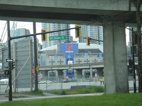 There's Roger's Arena, under the Skytrain