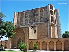 SAMARCANDA 069 (LE FOTO DI MAXI) Tags: mosque uzbekistan samarkand madrassa moschea samarcanda