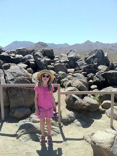Erika with Petroglyphs