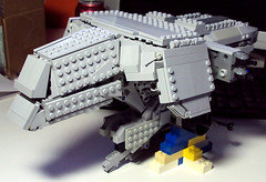 MGR WIP 02A (OrangeKNight) Tags: metal gun ray tank lego crash rail gear upright dummy rex mecha bipedal mech nuke mgs