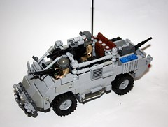 Jackal Enforcer (Babalas Shipyards) Tags: scale army jackal lego 4x4 military afv minifigure guntruck wmik