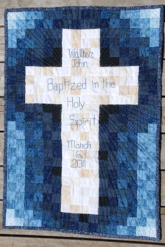 Walter's Baptism Wall hanging