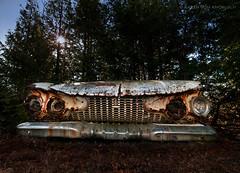 A New Find... (KvonK) Tags: old abandoned car rust antique wideangle handheld sunburst topaz mcleans notanhdr topazadjust kvonk nikond300s tokina11mmto16mm28 selectivetopasadjust