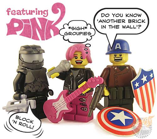 Custom minifig ....wrong 'Pink'