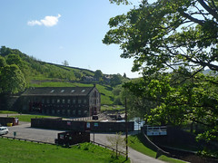 In the shadows (jrw080578) Tags: trees buildings canal yorkshire hills huddersfieldnarrowcanal