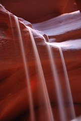 Falling Sand in a Sandstone Slot Canyon (JohnCramerPhotography) Tags: red google sand sandstone flickr slotcanyon facebook antelopecanyon twitter tumblr pinterest instagram copyrightjohngcramer