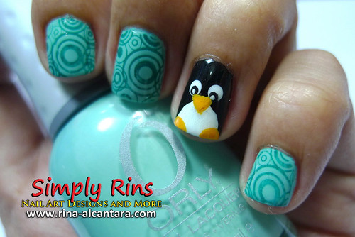 Nail Art Penguin 04