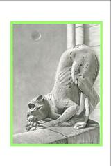 Paris Gargoyles - Kosker (Gillian Olson - PS Whimsy) Tags: sculpture canada paris art artwork drawings historic notredame gargoyle charcoal gargoyles notredamecathedral conte contedrawings pswhimsy gillianolson