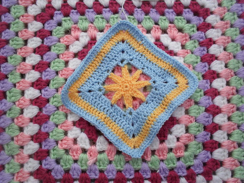 Steph's 'Jan Eaton' Square. No. 71 'StarFlower'. Great Squares thank you Steph!