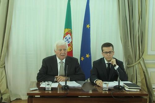 Conferência de Imprensa-Prof Eduardo Catroga e Carlos Moedas