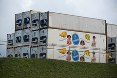 Chiquita banana shipping containers (DaveMosher) Tags: city vacation costarica bananas tropics centralamerica limon shippingcontainers