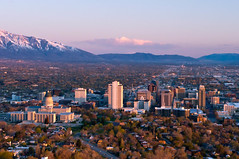 Sunset Salt Lake (Bring Back Words) Tags: sunset rising downtown saltlakecity valley overlook