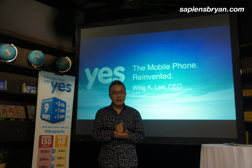 CEO of YTL Communication, Wing K. Lee, Introducing Yes4G Latest Innovation Yes Life For iOS