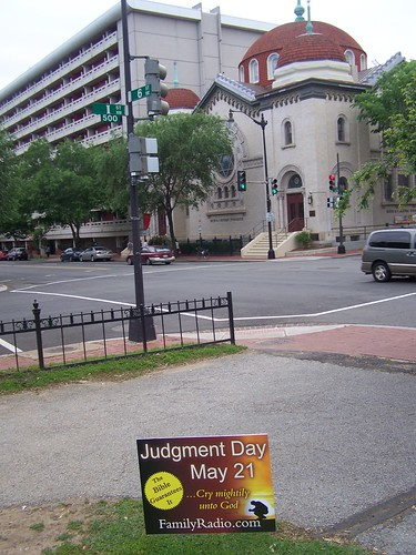 Judgment Day yard sign, 6th and I Streets NW, Downtown DC