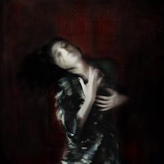 inside... (martikson) Tags: blue light red portrait face palms sadness rage inside glance martikson scarled