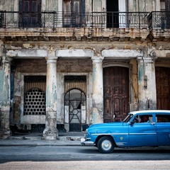 """on second thoughts, let's go to mine"" (urchino) Tags: street decay havana cuba oldcar habanavieja paseodemarti lumixgf1 20mmpancake"