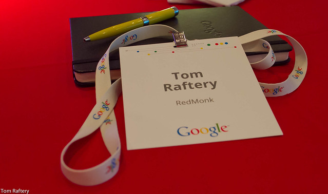 Google's EU Data Center Summit conference badge