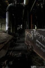 A Depressing Squeaky Wheel (billmclaugh) Tags: urban plant abandoned industry photoshop canon rebel industrial factory pennsylvania ashley tokina urbanexploration coal 1224mm hdr highdynamicrange urbex photomatix coalbreaker xti viveza promotecontrol ashleyhuberbreaker