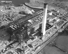 Fawley Power Station (Keith in Southampton) Tags: uk england white black water station construction power crane board central hampshire oil electricity 1960s southampton babcock refinery generation turbine boiler parson calshot fawley generating megawatt cegb