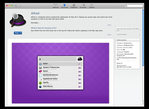 Alfred from App Store